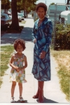 Kim Lynette, youngest child of Ada Margaret, with her niece Zahra in Oakland CA